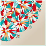 Colorful Stylized Simple Flower Card Royalty Free Stock Photos