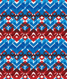 Colorful stylized symmetric endless pattern, transparent continu Stock Photos