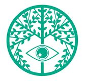 Colorful Stylized tree with eye vector illustration