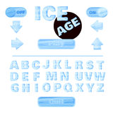 Colorful of stylized under the ice alphabets for children's education or use for headings in online games, browser-based and mobil Stock Photography