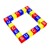 Colorful of success box Royalty Free Stock Images