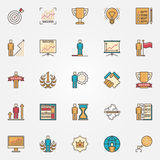 Colorful success icons Royalty Free Stock Photography