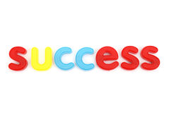 Colorful success letters Stock Photos