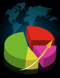 Colorful success pie chart Royalty Free Stock Image
