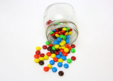 Colorful sugar-coated chocolate smarties Stock Photography