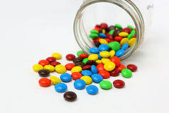 Colorful sugar-coated chocolate smarties Stock Image