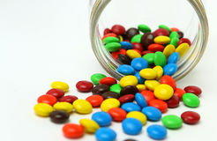 Colorful sugar-coated chocolate smarties Royalty Free Stock Image