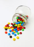 Colorful sugar-coated chocolate smarties Stock Images