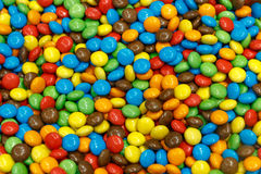 Colorful sugar covered chocolate candy Royalty Free Stock Images