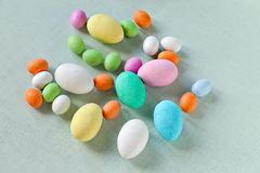 Colorful Sugar Eggs Stock Photos