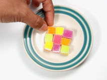 Colorful sugar jelly Royalty Free Stock Photos