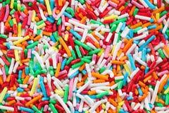 Colorful sugar sprinkles Stock Image