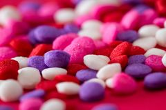 Colorful sugar sprinkles stock photography