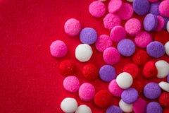 Colorful sugar sprinkles stock photos