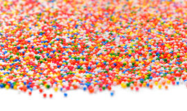 Colorful sugar sprinkles-Rainbow Colored.  Stock Image