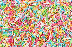 Colorful sugar sprinkles Royalty Free Stock Photography