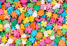 Colorful sugar star and flower Stock Photos