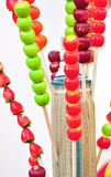 Colorful sugarcoated haws Stock Photo