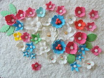 Colorful sugary flowers Royalty Free Stock Photography