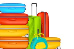 Colorful Suitcase in Travel Background Royalty Free Stock Image