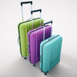 Colorful suitcases on light background Stock Photo