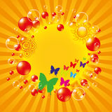 Colorful summer background. With bubbles Royalty Free Stock Photo