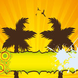 Colorful summer background. With palms Stock Photo