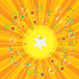 Colorful summer background with bubbles. And flower Royalty Free Stock Images
