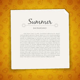 Colorful Summer Background with Copy Space Royalty Free Stock Photo