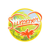 Colorful summer badge Stock Photos