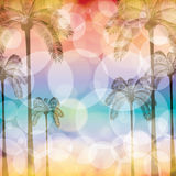 Colorful summer beach template Stock Photos