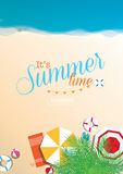 Colorful summer beach vector background Stock Photography