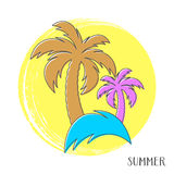 Colorful summer card Stock Photo