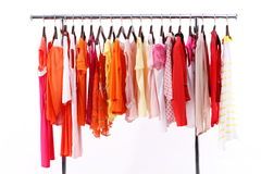 Colorful summer clothes Stock Photos