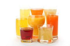 Colorful summer drinks Royalty Free Stock Photos