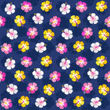 Colorful summer floral hibiscus background pink navy royalty free illustration