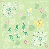 Colorful summer floral pattern Royalty Free Stock Photos