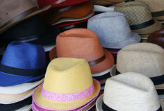 Colorful summer hats Royalty Free Stock Photography