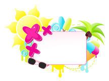Colorful summer holiday label Stock Photo