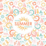 Colorful summer icons Royalty Free Stock Photography