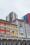 Colorful summer italian Portofino style buildings in Moscow, Russia. Some colorful bright summer italian Portofino style buildings in Moscow, Russia Stock Image