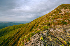 Colorful summer landscape in the Carpathian mountains.  Royalty Free Stock Image