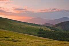 Colorful summer landscape in the Carpathian mountains Stock Photos