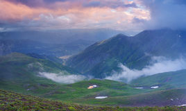 Colorful summer landscape in the Caucasus mountains Stock Photography