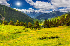 Colorful summer landscape Stock Photo
