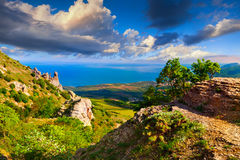 Colorful summer landscape in Crimea Royalty Free Stock Photos