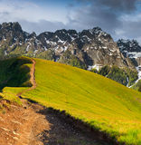 Colorful summer landscape. In the mountains Stock Photo
