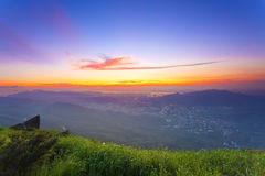 Colorful summer landscape at mountains. It is the natural landscape of mountains Stock Photo