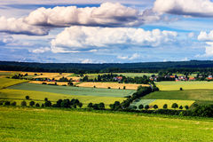 Colorful summer landscape near Kassel, Germany Stock Image