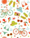 Colorful summer leisure pattern Stock Images